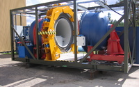 Detonation Chamber Andromeda for disposal of single charges up to 2 kg of TNT equivalent