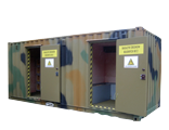 Specialized constructions for hazardous materials storage